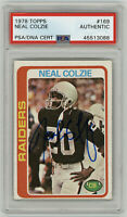 1978 RAIDERS Neal Colzie signed ROOKIE card Topps #169 PSA/DNA AUTO RC Autograph