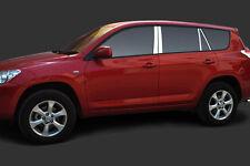 New Stainless Steel Window Pillar Posts Trim For Toyota RAV4 2009-2012