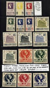 😎😎CHEAP! 1940-45 MEXICO AIRMAILS MINT Collection C103-5,C145-7,C148-52 Sc$60