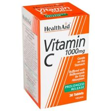HEALTHAID VITAMIN C 1000mg 30 VEGAN TABLETS - PROLONGED RELEASE - IMMUNE BOOSTER