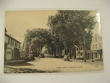 ANTIQUE PHOTOLUX POST CARD OF FRONT STREET, HARRISON, MAINE/GOOD COND/RARE.