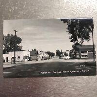 Gas Station Standard Oil Street Scene Stacyville Iowa Real Photo Postcard RPPC