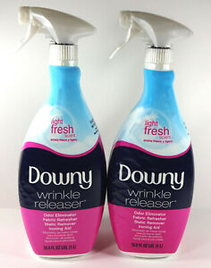 Downy Wrinkle Releaser Static Remover, Light Fresh Scent, 33.8 fl oz (2 Pack)