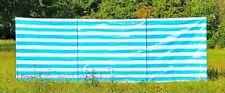 Sichtschutz Windschutz Sichtschutzwand Windschutzwand Gewebeplane blau weiss
