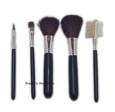 Sicara Travel Make Up Brush 5pc Set Powder Blusher Shadow Lip Lash Brow Groomer