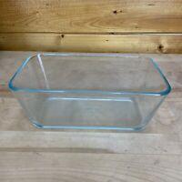 PYREX 7214 Blue Tint Glass Casserole Loaf Dish 4.8 Cup