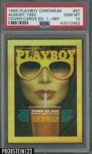 1995 Playboy Chromium Cover Cards Refractor #67 August 1982 PSA 10 POP 2