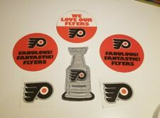 VINTAGE PHILADELPHIA FLYERS EARLY 1970s STICKERS STANLEY CUP PATCH NEW STICKERS