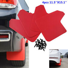 4Pcs Red Plastic Car Front & Rear Mud Flaps Mud Guards Splash Guards Protector