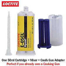 Loctite EA-Hysol E-05CL Fast Set Clear Non-Sag Epoxy Gel-50ml+Caulk Gun Adapter