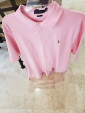 POLO RALPH LAUREN MEN SOLID PINK POLO GOLF SHIRT XL X-LARGE 100% COTTON NWT