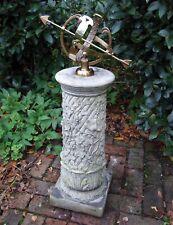 More details for vine armillary stone sun dial - garden sundial