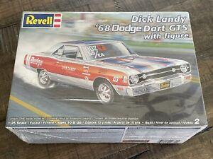 Factory Sealed Revell 1/25 Dick Landy 68 Dodge Dart GTS w/figure