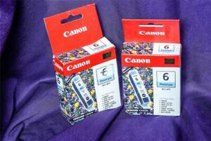 Canon BCI-6PC Photo Cyan Ink Cartridge x2 Cartridges GENUINE NEW