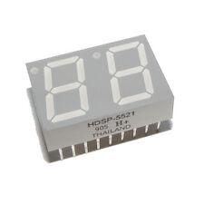 (Lot of 4) HDSP-5521 2-Digit 7-seg Numeric Display 14.2mm High Effi. Red Avago