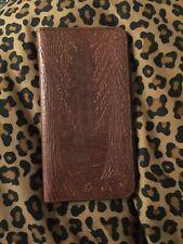 OBERON LEATHER DESIGN Redwood Tree Checkbook Wallet
