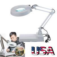 Flexible Lighting Desktop Table Desk Lamp Magnifying Glass LED Light 10X Magnify