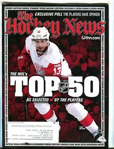 The Hockey News Magazine March 19 2012 Pavel Datsyuk EX w/ML 052217nonjhe