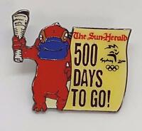SUN-HERALD SYDNEY 2000 OLYMPIC PIN - 500 DAYS to GO - SYD the PLATYPUS