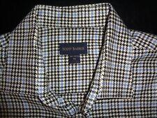 Scott Barber Geometric Check Hidden Button Down Long Sleeve Shirt Mens XL Pocket