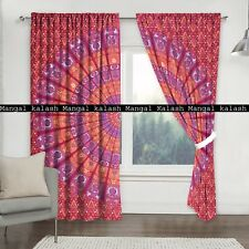 Indian peacock cotton bohemian tapestry curtains window hanging drapes valances
