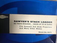 Sawyers Stack Loader #6271  Holds 40  2 x 2 Slides Orig box & instructions Vtg