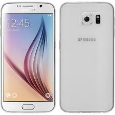Silicone Case for Samsung Galaxy S6 Slimcase transparent + protective foils