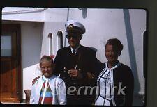 1964 kodachrome Photo slide MS Gripsholm ship Chief Officer Hofstens binoculars