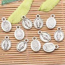 36pcs tibetan silver color religious portrait design charms H1058