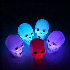 3D Crâne LED Éclairage Veilleuse Lumineuse Nuit Lampe Bureau Maison Halloween NF