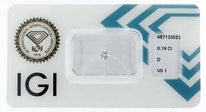 Diamant 0,19 ct D VS1 IGI Zertifikat - Sealed