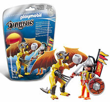 Playmobil Yellow Stone Dragon with Steppe Warrior #5462 New in Bag