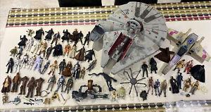Star Wars Millenium Falcon X Wing & Figures Kody Luke Darth Han Bundle + Vintage