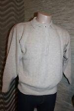 ANGORA SCHURWOLLE Pullover Strickjacke von PETER HAHN Gr. S M 40 42 beige kurz