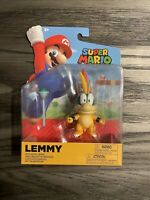 "World of Nintendo Super Mario Bros Jakks Pacific LEMMY W/Wand 4"" Action Figure"