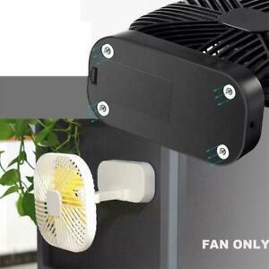 Magnetic USB Fan USB or AA Battery Powered Desk Fan 3 Speeds Timing Fun V5J8