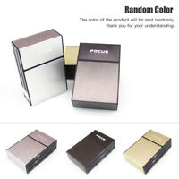 EG_ MEN CIGARETTE HOLDER CASE BOX WITH WINDPROOF REMOVABLE USB CHARGING LIGHTER
