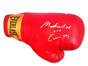 Muhammad Ali AKA Cassius Clay Rare Dual Signed Autographed Boxing Glove with COA