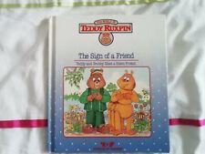 TEDDY RUXPIN BOOK SIGN OF A FRIEND