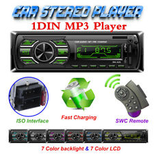 Bluetooth Car Stereo Audio Radio MP3 Player FM/SD/TF USB AUX Input Single 1 Din