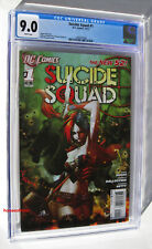 SUICIDE SQUAD #1 CGC 9.0 VF/NM 1st Print 2011 Harley Quinn Cover HOT DC NEW52!