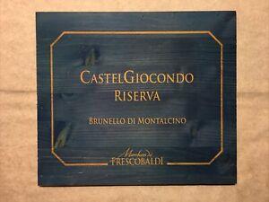 1 Blue Rare Wine Wood Panel Castel Giocondo Vintage CRATE BOX SIDE 10/21 1132