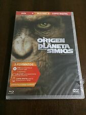 EL ORIGEN DEL PLANETA DE LOS SIMIOS - COMBO BLURAY + DVD + EXTRAS - NEW & SEALED