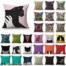 Home Decor Vintage Sofa Square Linen Throw Pillow Case Linen Cushion Cover