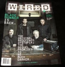 Wired Magazine Blade Runner Flying Cars October 2017 Newsstand Edition