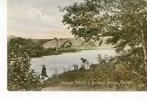 """ SCOTLAND ""  NAIRN   VICTORIA  JUBILEE  &  RAILWAY  BRIDGE   1920/30s"