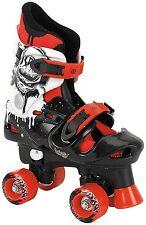 Osprey Boys Quad Skates Black White Red Size 10-12 For Indoor Outdoor Games