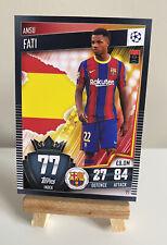 Match Attax101 2020/21 2021 Ansu Fati RARE NEW Base Rookie Card Barcelona #77
