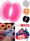 1pc Thin Silicone Double Flared Stretcher Earring Flesh Tunnel Ear Plug Expander