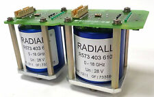 RADIALL R573 403 610 COAXIAL SWITCH SP6T SMA 18 GHz LOT OF 2 FROM WORKING SYSTEM